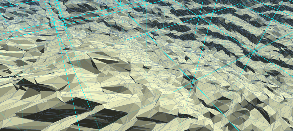 "The terrain is ""chunked"" into cubes so the level-of-detail algorithm can use a fine grained approach when choosing the LOD for each chunk of terrain."
